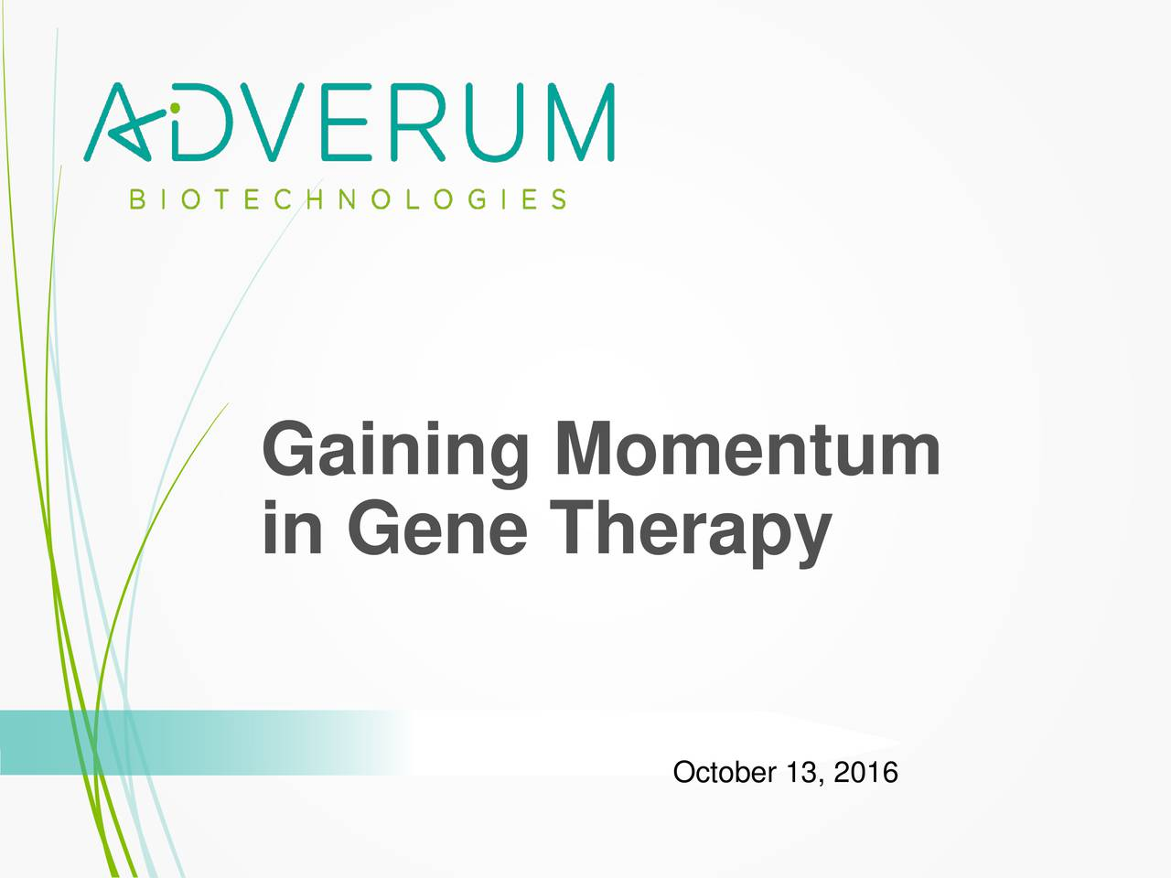 in Gene Therapy October 13, 2016
