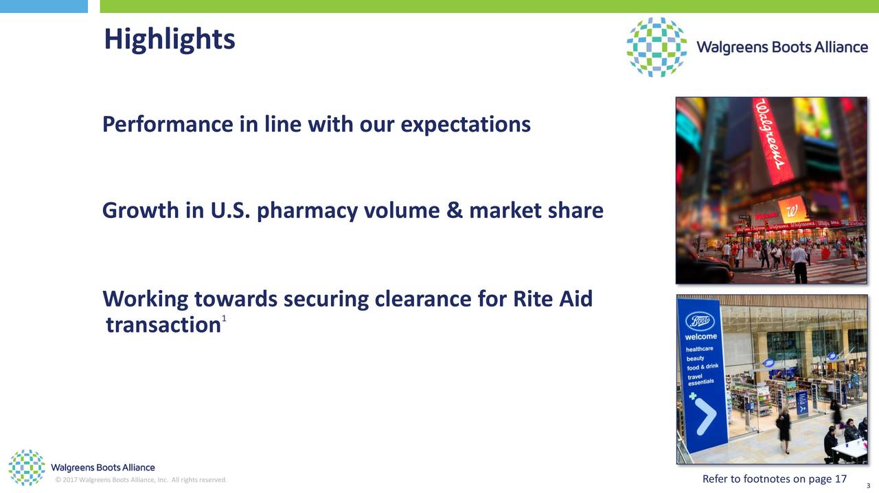Walgreens Boots Alliance  Inc  2017 Q2   Results   Earnings Call Slides. Walgreens Boots Alliance  Inc  2017 Q2   Results   Earnings Call